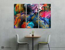 Abstract Paint 3 Panels Wall Art Metal Print Decor Ready to Hang
