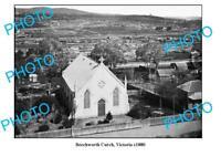 OLD 6 x 4 PHOTO OF BEECHWORTH VICTORIA BEECHWORTH CHURCH c1880