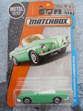 Matchbox 2016 #029/125 VW VOLKSWAGEN KARMANN GHIA green Adventure City Long Card