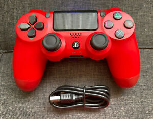 Wireless Magma Red Dualshock controller for Playstation PS4