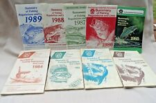 Pa Fishing Regulations and Laws Summary Booklets 1981 through 1989