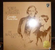ROBERT & CLARA SCHUMANN Complete Piano Trios / BEAUX ARTS TRIO 2 LP NM/VG+