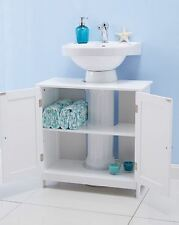 Under Sink Bathroom Cabinet White Storage Unit Shelves Cupboard Basin Furniture