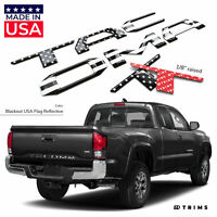 Blackout USA Flag 3D Raised Letters Inserts for Toyota Tacoma 2016-2020 Tailgate