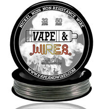 Vape & Wires Pure Nickel 201 Ni201 NON RESISTANCE 32 Gauge AWG 50ft Black Spool