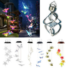 LED Solar Powered Wind Chime Lights Outdoor Garden Yard Hanging Decor Waterproof