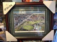 GREAT ST. KILDA FOOTBALL CLUB SAINTS OVAL MATTED AND FRAMED PRINT VFL