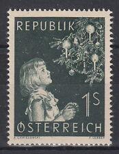 FRANCOBOLLO NUOVO MNH **  AUSTRIA CAT. UNIFICATO 827 NATALE NOEL CHRISTMAS 1953