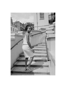 Nina Simone - On the Steps of Philips Building at Stanhope Place 1965 Print