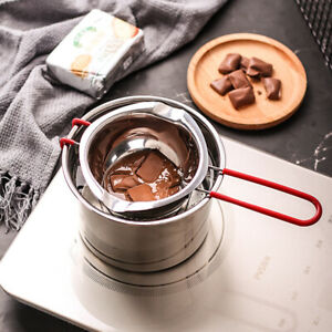 600ML Double Boiler Pot Stainless Steel Cooking Heat Resistant Handle Melting DH