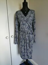 Gap Grey Wrap Quality Dress LS Premium Size XL VGC