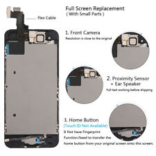 5 X Apple iPhone 5s Touch LCD Display Digitizer Black Screen Replacement