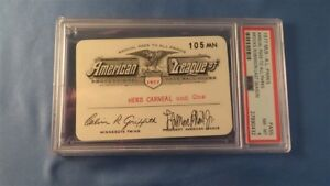 1977 Brooks Robinson Ticket Pass PSA MT Last HR 268/Hit/ GM Baltimore Orioles MT