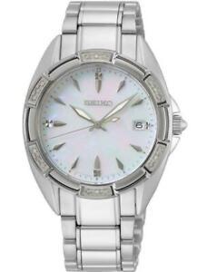 "Seiko skk883p1 Ladies ""konzeptionelle"" Diamond Set Lünette Stahl Watch RRP £ 430.00"