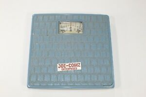 VINTAGE COUNSELOR BLUE RETRO BATHROOM WEIGHT SCALE
