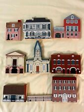 Cats Meow Village; Scenes of Charleston, Sc (vintage houses-1990-1992; set of 9)