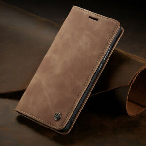 For Huawei P40 P30 Lite Pro Genuine Real Leather Wallet Card Holder Phone Case