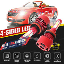 H11 4-Sided LED Headlight 6000K White 2350W 352500LM Low Beam Bulb High Power
