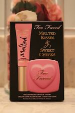 TOO FACED Melted Kisses & Sweet Cheeks 2Pc Set Peony Lip & Justify my Love Blush