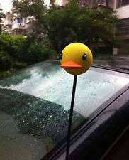 Cute Yellow Rhubarb duck Antenna Balls Car Aerial Ball Antenna Topper Decor Ball