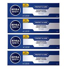 (27,35€/L) 4x 100ml Nivea Protect & Care Rasiercreme normale trockene Haut pfleg