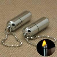 Mini Emergency Gear Fire Stash Outdoor Survival Lighter Camping Pocket Tool - UK