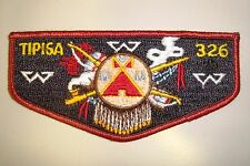 OA TIPISA LODGE 326 CENTRAL FLORIDA COUNCIL PATCH TEPEE SHIELD SERVICE FLAP
