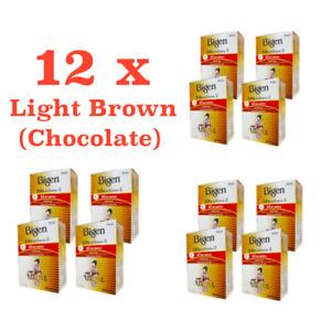 12 Choco Hair Dyeing Color Permanent Powder BIGEN Amonia Sodium Perborate Free