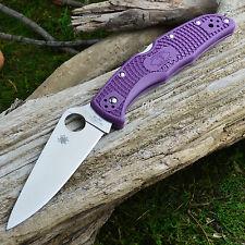 Spyderco Endura 4 Flat Ground Purple FRN Handle Knife VG-10 C10FPPR
