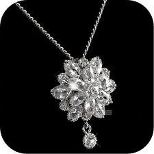 18k white gold gp made with SWAROVSKI crystal flower stud luxury earrings