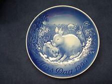 1999 Bing & Grondahl B&G Mother'S Day Plate Rabbits & Bunnies