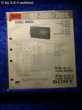 Sony Service Manual ICF A7601 /A7601L Clock Radio (#3862)
