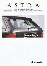 Irmscher Astra Zubehör Prospekt 11/97 brochure 1997 Auto Autoprospekt Broschüre