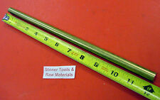 "1/2"" 360 BRASS SOLID ROUND ROD 12"" long New Lathe Bar Stock H02 1/2 Hard"