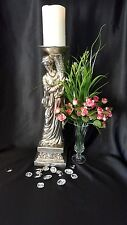 "18"" Ceramic Pillar Candle Holder Greek Statue/Figurine-INSPIRATIONAL & BEAUTIFUL"