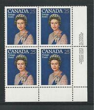 CANADA # 704 QUEEN ELIZABETH II SILVER JUBILEE (Inscription Block, Lower Right)