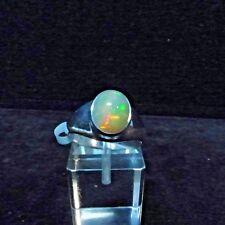 Ring, Gr. 58,  Silber 925 mit einem Opal Cabochon aus Äthiopien