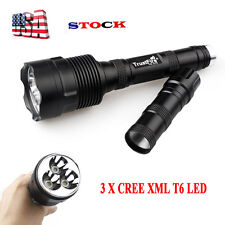 50000Lumens 3X T6 LED Flashlight 5-modes Tactical Police Light Torch Hiking FA1