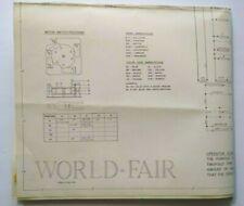 World Fair 1963 Gottlieb Pinball Machine Game Schematic Wiring Diagram Original