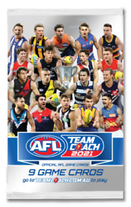 2021 AFL TEAMCOACH TEAM COACH TRADING GAME BLANK ALBUM FOLDER + 12 PACKS