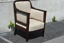 English Mahogany Regency 1930's Arm Chair Newly Upholstered & Restored