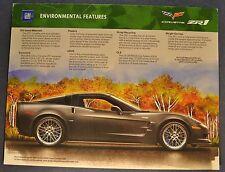 Z06 ZR1 2010 Chevrolet Corvette Color /& Trim Paint Chip Brochure Xlnt Original