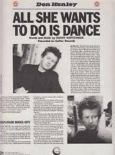 Tutti i desideri fare è DANCE-Don Henley - 1985 SPARTITI MUSICALI