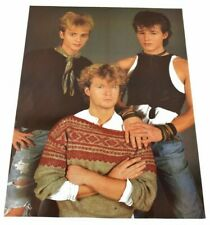 Vintage A-ha Group 1980's Aha Large Music Poster Rare Original Produced in 80's