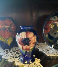 William Moorcroft Pottery Anemone Pattern Vase Impressed Marks W Moorcroft