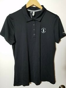 1 NWT UNDER ARMOUR WOMEN'S POLO, SIZE: LARGE, COLOR: BLACK (J183)