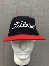 Vintage Titleist Golf New Era 5950 Black Red Fitted Hat Cap Size 7 1/2 Fast Ship