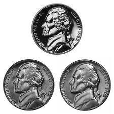 1996 P D S Jefferson Nickel Year Set Proof /& BU US 3 Coin Lot