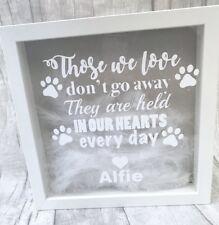 Personalised Dog Heaven plume box Cadre Souvenir Cadeau Spécial Famille Amour