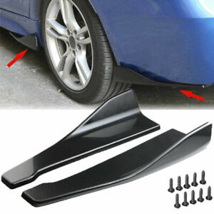 2x Universal Gloss Black Car Bumper Spoiler Rear Lower Lip Splitter Diffuser